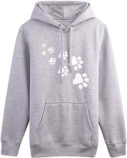 Shusuen Women's Round Neck Long Sleeve Casual Hoodie Pocket Pullover Blouse Sweatshirt
