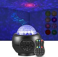 LED Galaxy Projector, Delicacy Disco Light Projector, Ocean Wave Projector, Rood Swirl Light met Bluetooth/Sound Sensor, S...