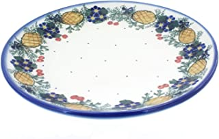 OKSLO Polish pottery pinecone dinner plate
