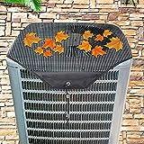 Lrxinki Funda protectora para exterior de aire acondicionado central, cubierta para unidad de exterior, cubierta universal para exterior de malla para todo el año