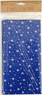 Just to Say Printed Tissue Paper - Blue Stars - 8 Sheets - Size 26.7