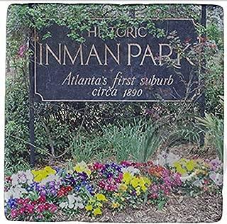 Inman Park Historic Sign, Atlanta Marble Stone Coasters.
