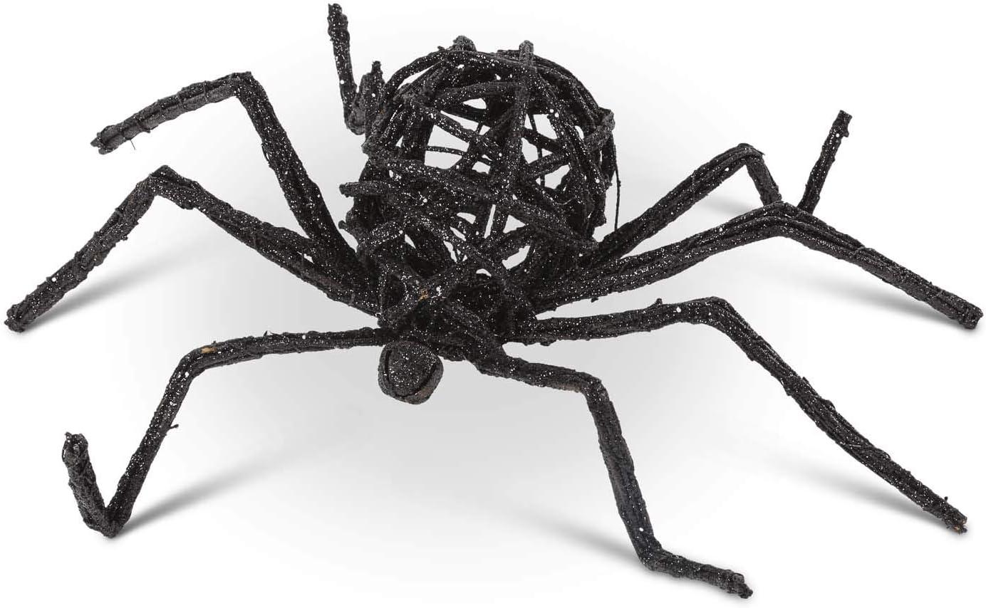 KK Interiors 41094A-3 22 Inch NEW Soldering Glitter Wire Black Spider