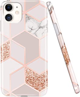 JAHOLAN iPhone 11 Case Bling Glitter Sparkle Marble Design Clear Bumper TPU Soft Rubber..