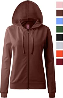 55a5b8fa89cc0 Regna X Round Neck Long Sleeve Full Zip Hoodies for Women (16