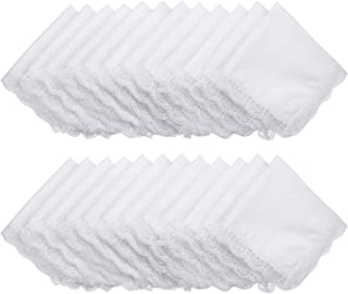 Boao 24 Pieces Ladies Cotton Handkerchief with Lace Cotton Pure White with Lace Edge Handkerchief for Women