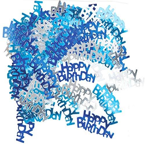 Xinlie Konfetti Regen Tisch Dekoration Geburt Taufe Happy Birthday Geburtstag Konfetti Roségold Happy Birthday buntes Konfetti Set Happy Birthday Text mit Punkten Tisch Deko über 3000 Stück (A)