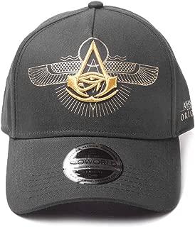 Assassins Creed Baseball Cap Origins Logo Curved Official Black Strapback
