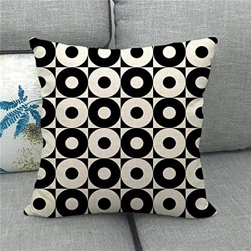 LPLH Symmetrical Geometric Checkerboard Lattice Plus Linen Pillowcase Pillow Pillowcase 1504-6_45*45cm
