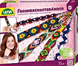 Lena 42686 - Bastelset Freundschaftsbänder knüpfen, Komplettset zum Flechten von Armbändern mit 6...