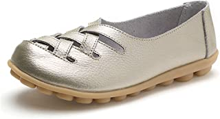 Mocassini da Donna Loafers Scarpe da Guida Casuali Scarpe in Pelle Sandali Singoli Pattini Antiscivolo