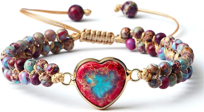 Pearl Bracelet Classic Heart Shape Memphis Mall Charm Braide Bracelets String New product!!