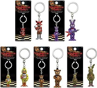 Five Nights at Freddy's Foxy, Bonnie, Chica, Freddy, Spring Trap Keychains! Set of 5
