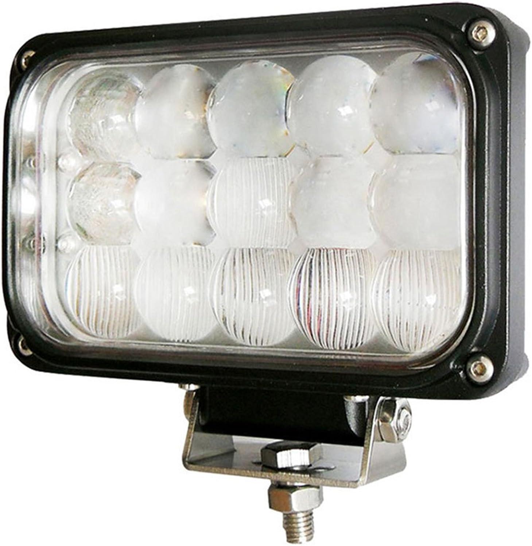 PoJu 45W LED Auto Beleuchtung Arbeitslampe Graben Auto Lichter Engineering Auto Lichter LKW Lichter Off-Road Auto Lichter Wasserdichte Licht Schwarz Combo Beam (Größe   166  106  83mm)