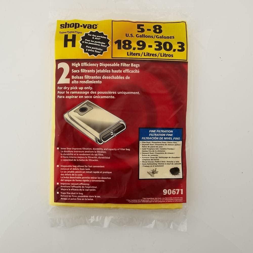 Shop Vac Store 4 years warranty Corp Fax 90671-00 Filter Origin Bag Vacuum Genuine