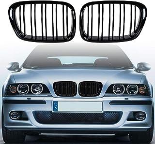 i Shop 1999–2003 E39 5er Serie schwarz M5 Kühlergrill glänzend schwarz Fronthaube Nieren Grill Paar