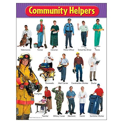 TREND enterprises, Inc. Community Helpers Learning Chart, 17 x 22