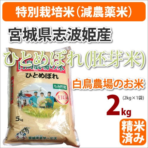 戸塚正商店『宮城県志波姫産 白鳥農場のお米 ひとめぼれ(胚芽米)』