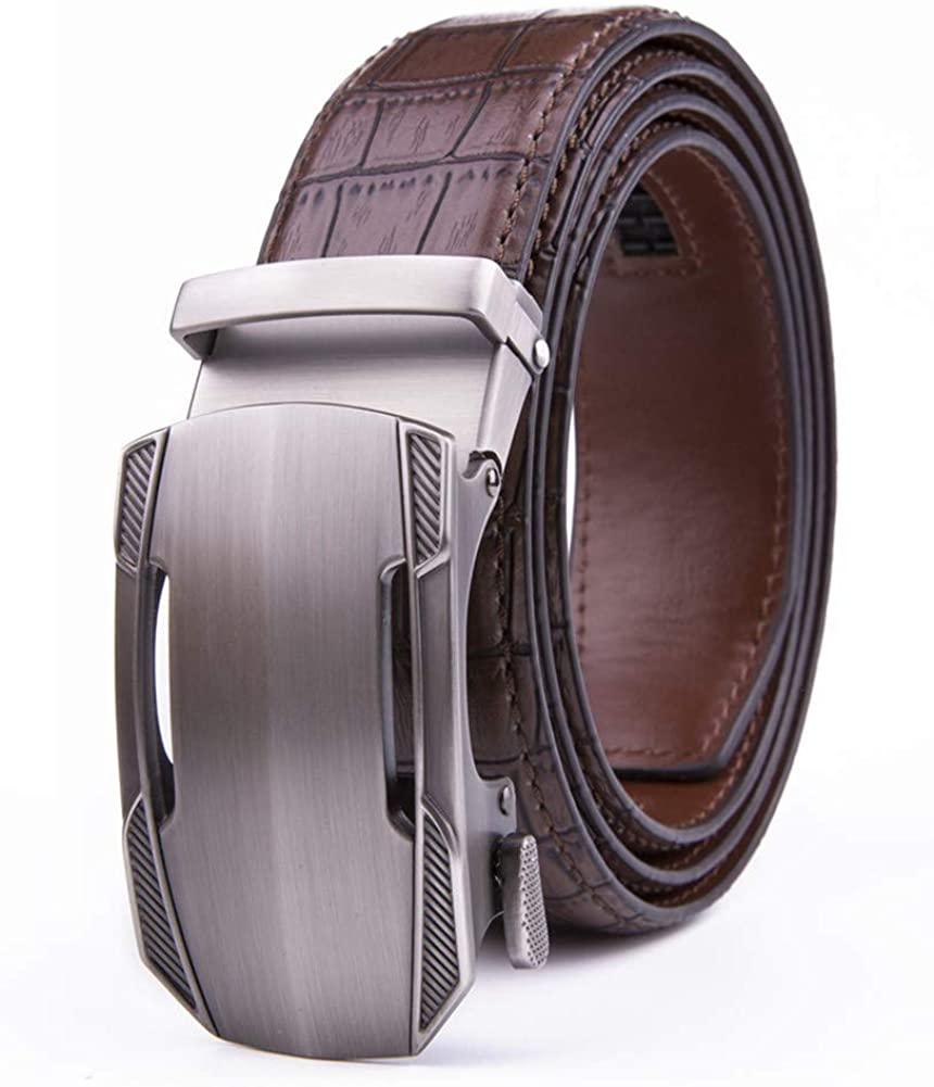 Men's Belt Don't miss the campaign Leather Dress Free shipping anywhere in the nation Belts Size Buckle Ratchet Automatic Cus