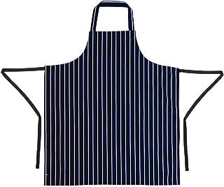 Whites Chefs Apparel A530 Whites Butchers Apron, Navy Stripe