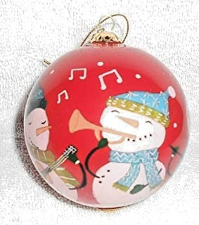 Pier 1 Imports Li Bien Snowman Band Christmas Ornament