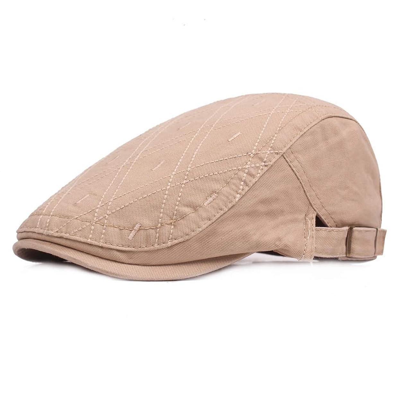 表面的なパイント船上MXLTIANDAO キャスケット メンズ 調節可能 日よけ アウトドア用 純色 コットン 鳥打帽 ハンチング 55-60 cm 帽子