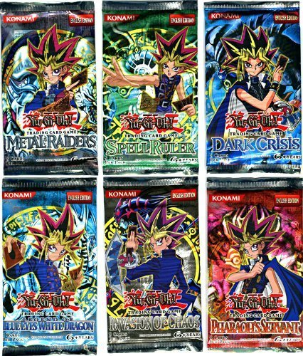 YuGiOh Card Game Lot of 6 Booster Packs Legend Blue Eyes White Dragon,...