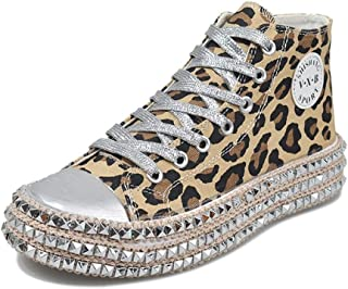 Women's Sexy Leopard Printing High Top Canvas Sneaker...