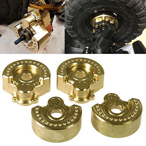 Benedict Harry TRX-4 1:10 x4PCS Heavy Metal Brass Internal Wheel Knuckle Weight Fit for Traxxas TRX-4 (A Style)