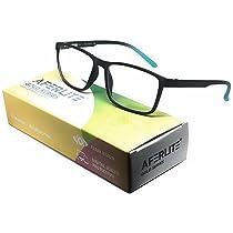 [LD] AFERLITE® Gold Series Unisex Rectangular Computer Glasses Blue Light Blocking Technology For Eye Protection (53 mm Medium)