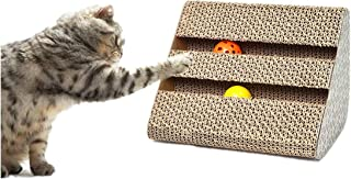 Nuluxi Cat Scratching Pad, Cat Scratching Post with Bell Funny Pet Cat Kitten Toy Sided Scratch Board Lounge Corrugated Sc...