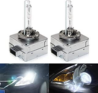 OPP ULITE Car HID D3S Xenon Headlight Bulbs 6000K 35W Replacement Bulbs Diamond White (Pack of 2)