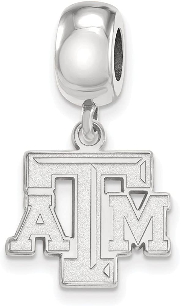 Free shipping Texas AM Bead Charm Small 1 Silver Dangle Sterling Free Shipping Cheap Bargain Gift Inch 2
