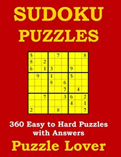 Sudoku Puzzles: 360 Easy to Hard Puzzles with Answers (Large Print)