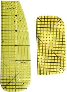ARTIBETTER Régua de ferro de 2 peças para fazer patchwork, passar, régua de medição, passar a vapor ou passar a ferro, rég...