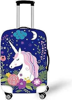 Cartoon Cute Unicorn Durable Washable Travel Luggage Suitcase Protector, Unicorn E, M: For 22