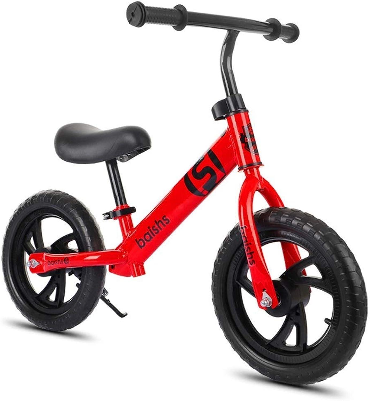 Laufrad mit verstellbarem Lenker und Sitz, für 2, 3, 4, 5, 6 Jahre alte Jungen Mdchen, Leichter Nicht-pneumatischer Reifen, Laufrad, kein Pedaltrainingsrad, rot ZHAOFENGMING