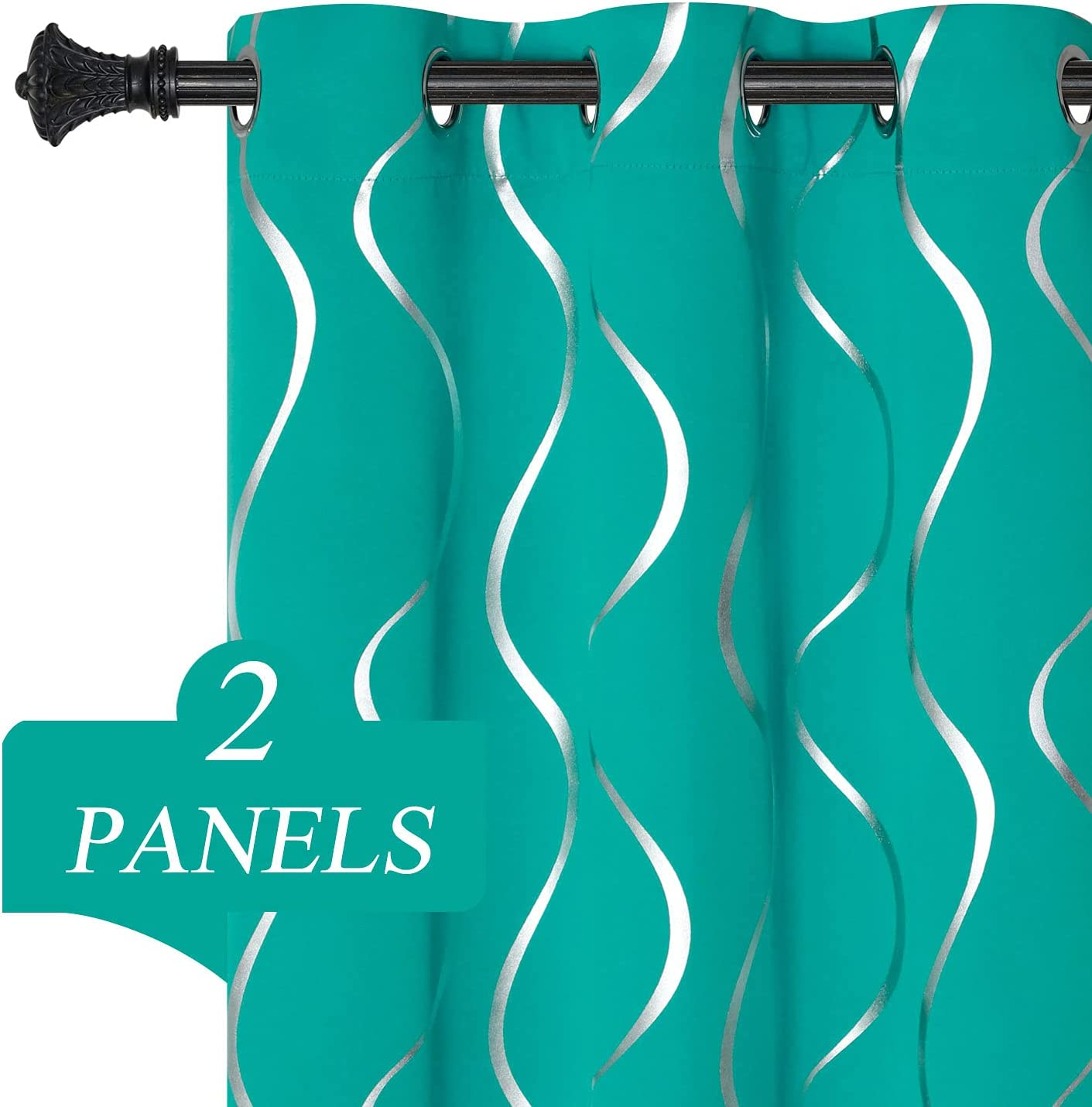 Estelar Kansas City Mall Textiler Teal Blackout Curtains Directly managed store Drapes Long 96 Inches