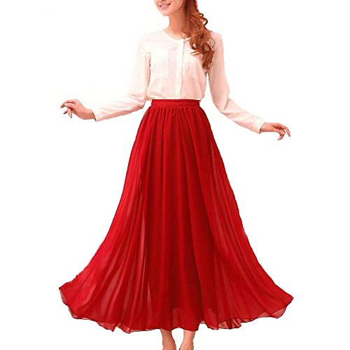 50-70%off big selection brand quality Long Dark Red Maxi Skirt: Amazon.com