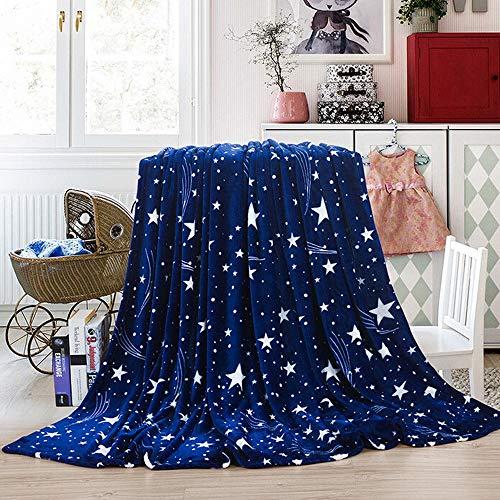 Kristallly Deken Fleece Deken Super Zachte Warm Micro Pluche Fleece Deken Eenvoudige Stijl Gooi Tapijt Slaapbank (Donkerblauw 120 X 200 Cm)