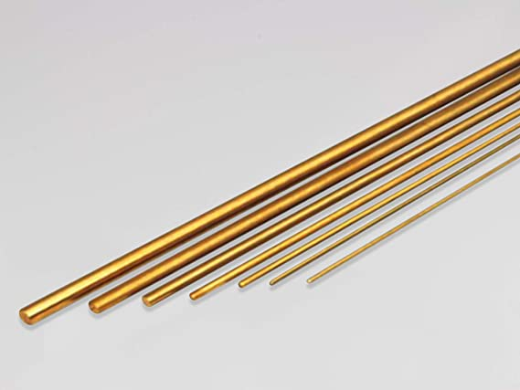"""10 - Lengths 1//16/"""" x 3/' Brass Round Stock Solid 36/"""" Long Rods Mil Finish NEW"""