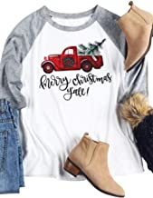 EGELEXY Merry Christmas Y'all Baseball T-Shirt O-Neck Female Casual Lady Top Tee
