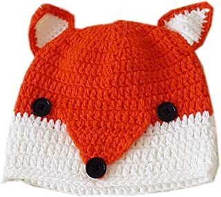 ALLDECOR Handmade Knit Funny Fox Ear Hat Women Winter Halloween Custome Beanie