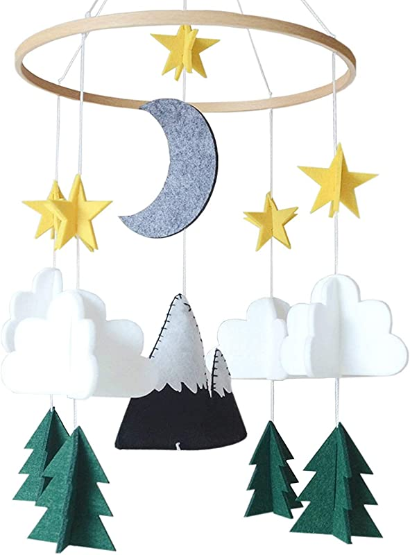 Baby Crib Mobile By Herxuhouse Starry Woodland Night Nursery Decoration Crib Mobile For Boys And Girls