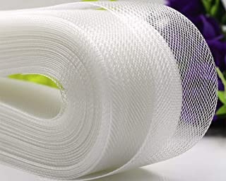 VIVIPA 2'' inch Wide Polyester White Horsehair Braid, Selling Per Roll/ 50 Yards
