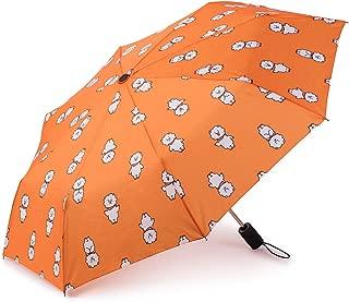 BT21 Official Merchandise by Line Friends - RJ Character Auto Umbrella, Orange