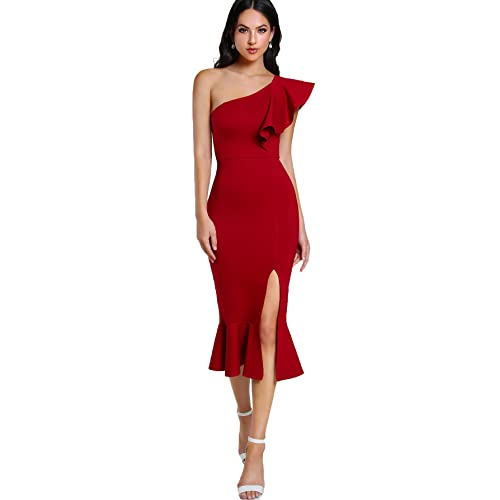 Red Wedding Guest Dress Amazon Com