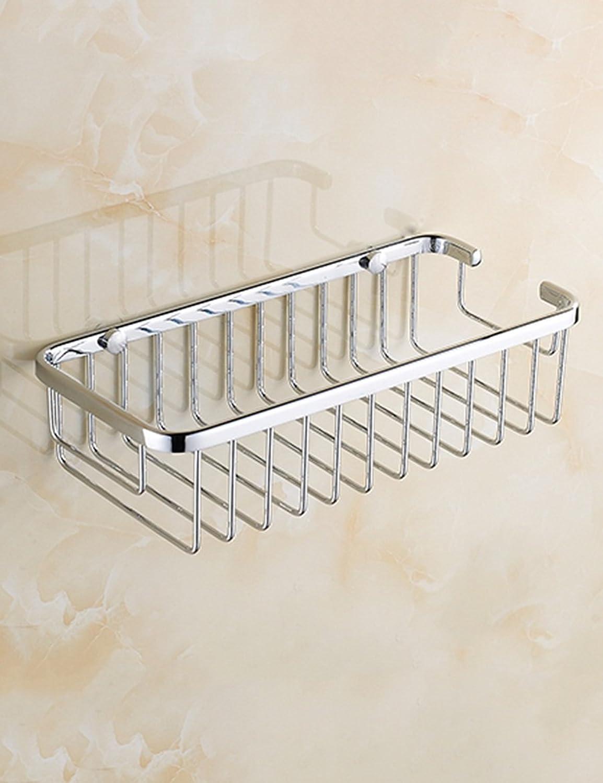 European Style Basket Shelves Bathing Racks Full Copper Rectangular Shelves Bathroom Racks (color   255  70MM)