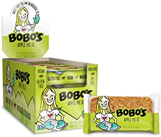 Bobo's Oat Bars, Apple Pie, 3 oz Bar (12 Pack), Gluten Free Whole Grain Snack and Breakfast Bar