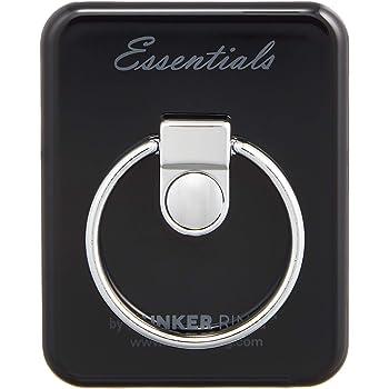 BUNKER RING Essentials バンカーリング iPhone/iPad/iPod/Galaxy/Xperia/スマートフォン・タブレットPCを指1本で保持・落下防止・スタンド機能(ジェットブラック) BUESJB